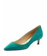 Jimmy Choo Romy Suede Low-Heel Pump Emerald Shoes Size 42 MSRP $650 - $445.50