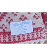 Lands End Coming Home Snowflake Throw Blanket - Red White 100% Wool - 65... - $37.39