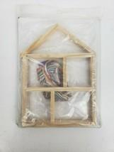 Holiday Hutch Christmas Village Cross Stitch Kit New Wooden house Frame - $24.99