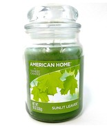 Yankee Candle Sunlit Leaves 19 oz Large Candle Green American Home Glass Jar - $17.05