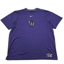 Nike COLORADO ROCKIES Men's Purple Shirt Size L Regular Fit MLB Baseball... - $16.88