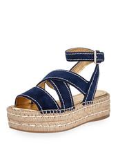 Prada Crisscross Suede Espadrille Sandals MSRP $650 Size 38.5 - $425.70