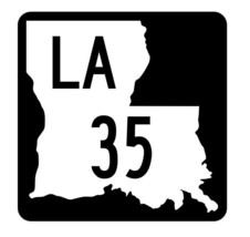 Louisiana State Highway 35 Sticker Decal R5761 Highway Route Sign - $1.45+