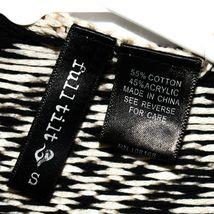 Full Tilt Black & Tan Striped Sleeveless Fringed Boho Sweater Vest Size S image 3