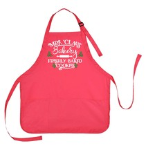 Mrs. Claus Apron, Mrs. Claus Bakery Apron, Mrs. Claus Freshly Baked Cook... - $23.71 CAD