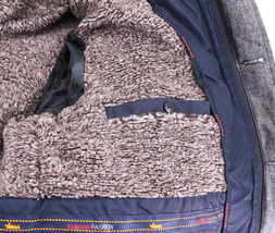 Men's Heavy Weight Warm Winter Coat Puffer Faux Fur Trim Sherpa Lined Jacket image 15
