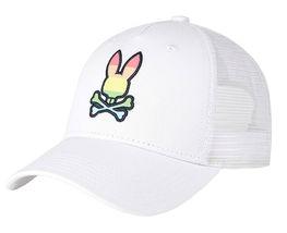 Psycho Bunny Men's Snapback Mesh Embroidered LGBT Rainbow Logo Baseball Cap Hat image 6