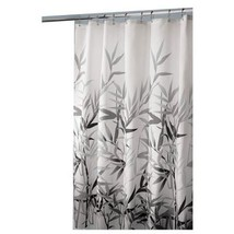 "InterDesign 36527 Anzu Fabric Shower Curtain  - Standard, 72"" x 72"", Black/Gray - $15.76"