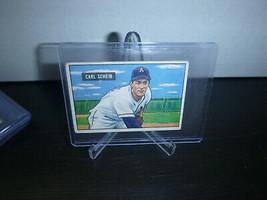 1951 Bowman Gum Baseball Card #83 Carl Scheib Trading Card Good Condition - $8.90