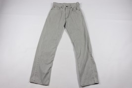 Vintage Levis Mens 28x30 512 Slim White Tab Japan Exclusive Casual Pants Gray - $55.34