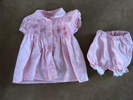 "Zapf creations baby born pink smocked dress bloomers clothing girl 16"" v... - $19.50"