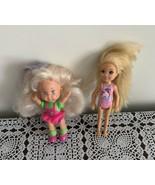 Two Mattel 5 Inch Dolls Vintage 1982 Little Miss Mini 2016 Chelsea Blond... - $11.49