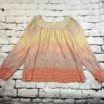 Lauren Conrad Top Sz L Long Sleeve Tunic Multi Color - $14.84