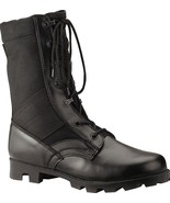 Black Military Speedlace Leather Jungle Boots - $46.99