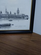 Two Ron Marsden Lithegraphs of London Westminster Abbey and Big Ben.House of Par image 2