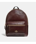 Coach Charlie Medium Rucksack F36088 oxblood Leather Backpack - $152.00