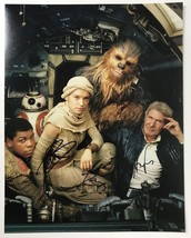 H. Ford, D. Ridley, J. Boyega, Peter Mayhew Autographed Star Wars 11x14 Photo - $399.99