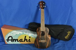 New! Amahi UK990C Concert Ukulele Uke w/ Gig Bag Satin Ebony - $179.00