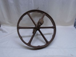 Antique Cast Iron Metal Wheel and Axle Wagon Cart Wheelbarrow - $46.74