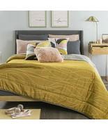 Primrose Yellow Lines Reversible Teens Comforter Set King Size 6PCS - $143.50