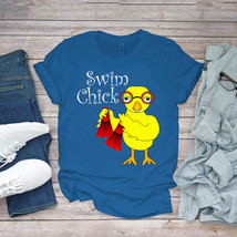 Swimming Funny Tee Swim Chick Funny Swimmer Unisex - $15.99+