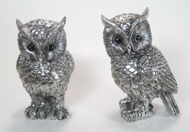 "Set of 2 Wise Owls Silver Colored  Holiday Home Decor 5.5"" Tall - $26.68"
