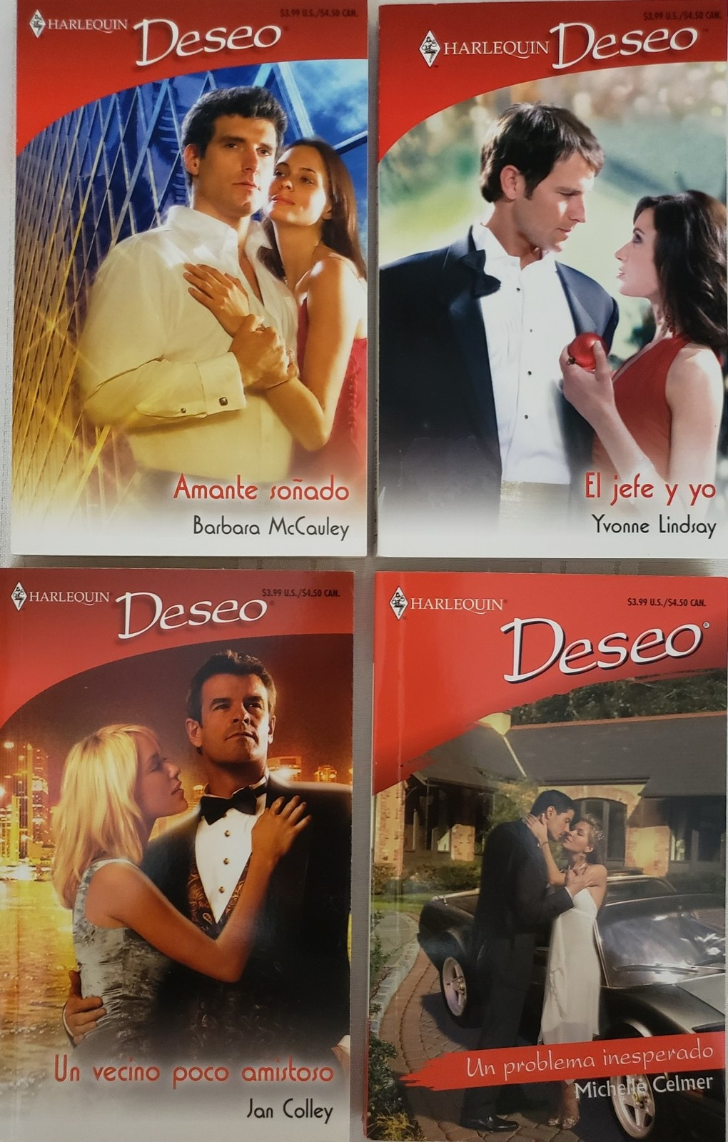 Primary image for Lot of 4 Harlequin Deseo (En Espanol) Pocketbooks HQN D 6