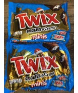 Twix ~ Cookies & Creme Minis Chocolate Candy 9 oz, 08/2021 ~ 2 Bags - $18.69