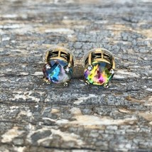 VINTAGE AB Stone Baublebar Stud Earrings - pierced - Gold tone - 111 - $15.83