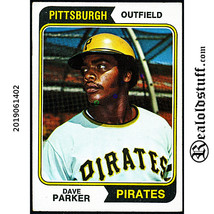 #252 Dave Parker 1974 Topps Rookie - NM NEAR MINT - $8.00