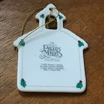 Estate Enesco Precious Moments School House w Metal Bell TO MY TEACHER Christmas image 5