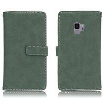 Galaxy S9 Case,Gloryshop 9 Card Slots Minimalist Matte Series PU Leather... - $7.91