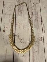 Unique Gold Tone Vintage Dessy Brand Necklace - $108.90