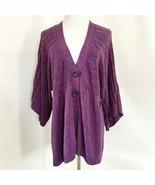 Apt 9 Purple Knit 3/4 Sleeve Cardigan Sz Large - $19.99