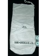 "Bank of America NT&SA 31""X14"" Large Canvas Tie Strap Money Cash Deposit ... - $12.85"