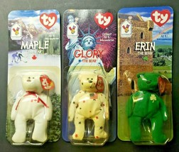 Ty Beanie Baby Glory, Maple, Erin, The Bear Mcdonald Lot of 3 New In Pac... - $16.99