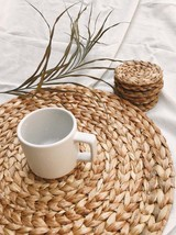 water hyacinth placemat, Rustic Natural Placemats, Vintag, Braided Table... - $31.00