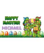 Teenage Mutant Ninja Turtles Easter Basket Sticker, Waterproof and Perso... - $3.25+