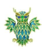 Genuine Natural 18k Yellow Gold Plique-A-Jour Enamel Owl Pin (#J1724) - $4,250.00