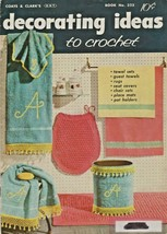 "Coats & Clark, Inc ""Decorating Ideas to Crochet"" Vintage 1956 - Gently Used - $5.00"