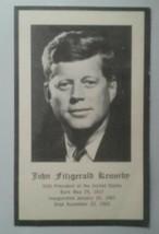VINTAGE CATHOLIC HOLY CARD ~ COMMEMORATING DEATH OF ~ PRESIDENT JOHN F. ... - $7.91