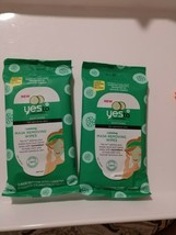 Yes To Cucumbers Soothing Calming Mask Removing Wipes 5 Masks 2 Packs Se... - $8.68