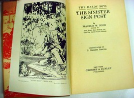 Hardy Boys no.15 The Sinister Sign Post 1937 printing hardcover Gretta e... - $14.00