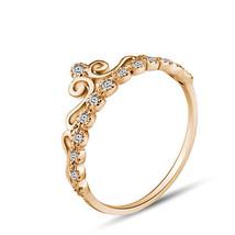 9ct Genuine Yellow GOLD Queen ZIRCONIAS Crown Tiara Ring Jewelry Size 7 - $115.00