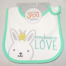 New Unisex Baby Carters First Easter Bib Some Bunny to Love Chick  - $5.93