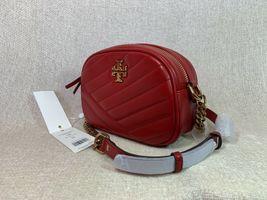 NWT Tory Burch Red Apple Kira Chevron Small Camera Bag $358 image 5