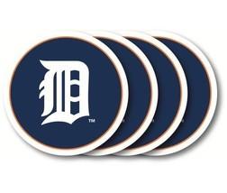 DETROIT TIGERS 4 PACK HEAVY DUTY VINYL DRINK COASTER SET MLB BASEBALL - $13.92