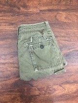 AMERICAN EAGLE Men's Green Distressed Loose Fitted Cargo Summer Shorts S... - $528,97 MXN