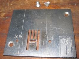 Kenmore 158.12512 Free Arm Zig Zag Throat Plate #45614 w/Mounting Screws - $12.50