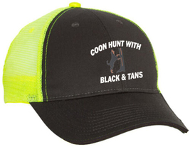 Cap Hat Caps Charcoal Yellow Embroider Coonhound Coon Hunter Hound Dog B... - $12.99